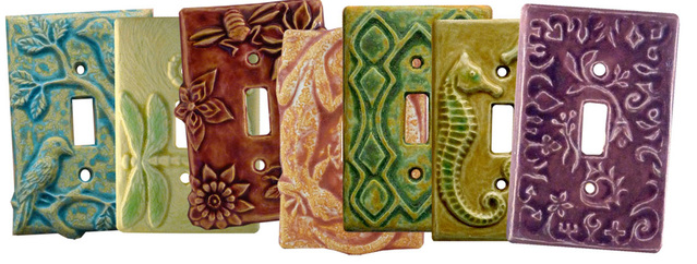 ceramic art single toggle light switch covers plates - Decorative Light Switch Covers