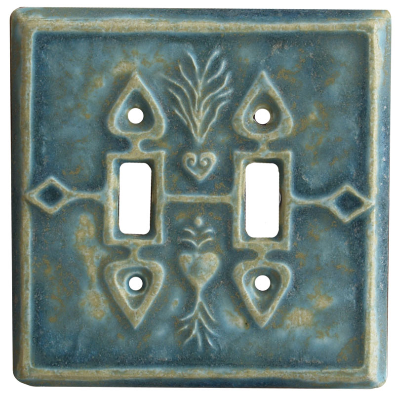 ceramic light switch cover, double toggle switch plate