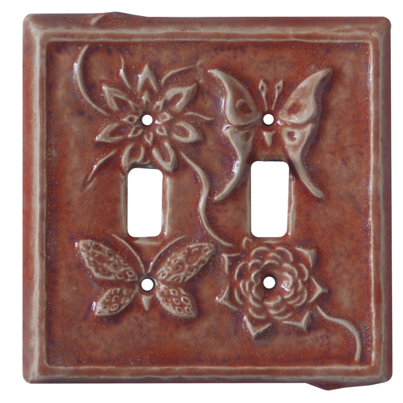 double toggle ceramic switch plate, double toggle light switch cover