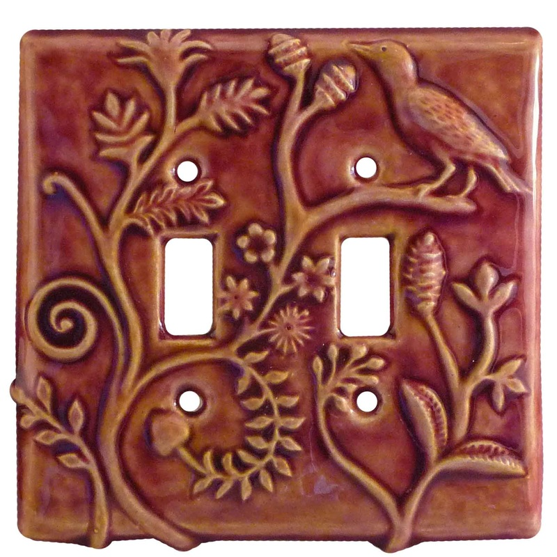 Double Toggle Ceramic Light Switch Cover
