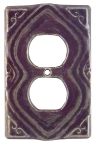 Moroccan Ceramic  Duplex Outlet Cover