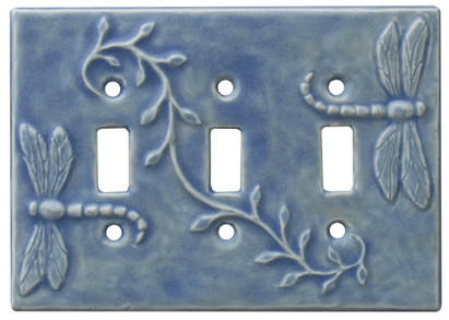 Dragonflies Triple Toggle Light Switch Plate