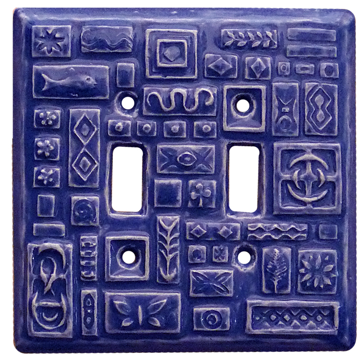 blue light switch cover, double toggle switch plate