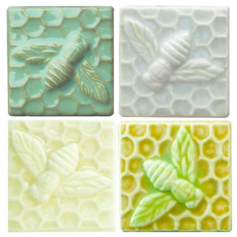 ceramic art bee tiles 3