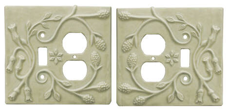 ceramic art single toggle switch plate plus duplex outlet combination cover