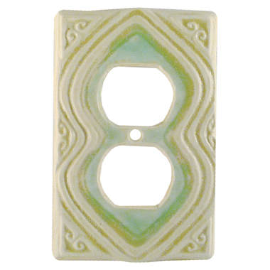 Moroccan design ceramic art duplex outlet plate cover