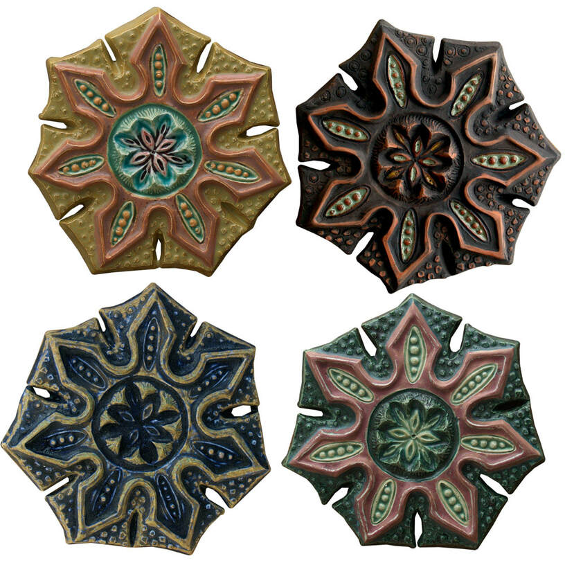 pods ceramic art organic shape tile, original ceramic art wall sculpture
