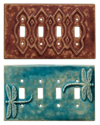 4 gang quad toggle light switch covers, ceramic art light switch plates, unique light switch covers