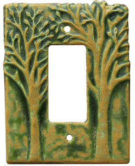 single gfi outlet plate, single rocker switch plate, single ceramic art light switch cover