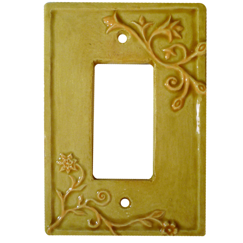 single rocker switch plate, ceramic light switch cover, gfi outlet plate